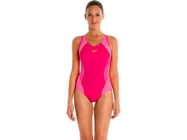 speedo SpeedoFit Splice Costume intero Donna, rosa